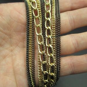 Jewelry - Vintage 9 Inch Gold Black Multiple Chains Bracelet